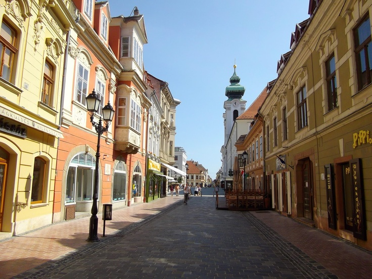 Gyor, Hungary. Old Downtown