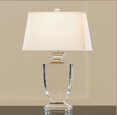 Restoration Hardware crystal lamp