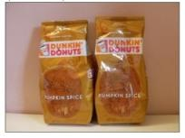 2 bags of pumpkin spice Dunkin donuts coffee  This coffee is so worth the price!! We love it, especially in the fall.
