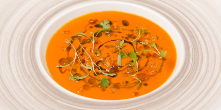 Richard Davies creates a lush tomato soup, lifted to cheffy standards by delicately smoked plum tomatoes