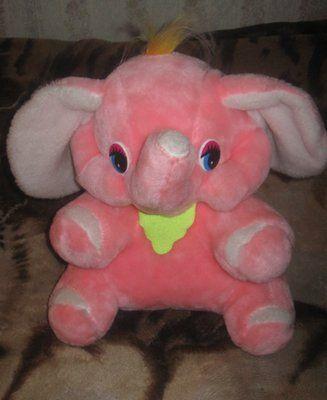 Мягкая игрушка слон. Дёшево. Симпатичный розовый слонёнок, состояние отличное.
