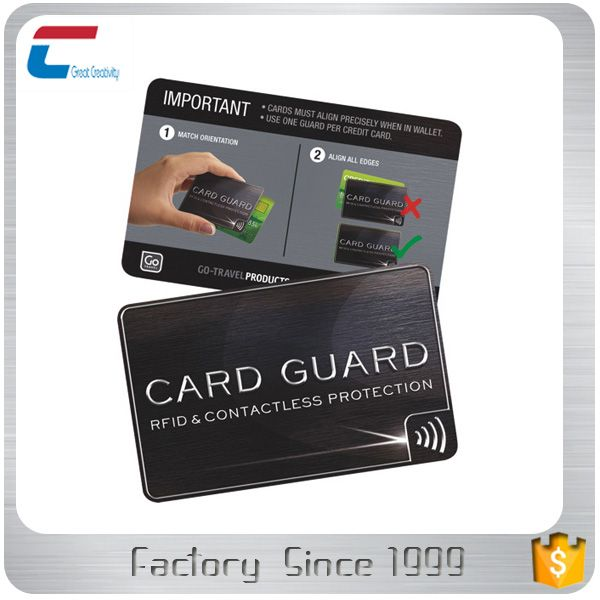 E Field Pvc Rfid Blocking Card For Debit And Credit Card