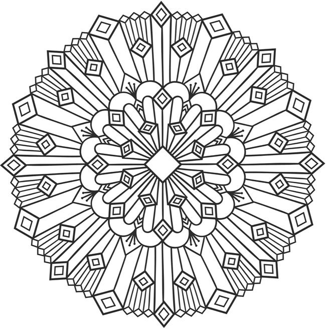 Mandala Coloring pages colouring adult detailed advanced ...Detailed Mandala Coloring Pages For Adults