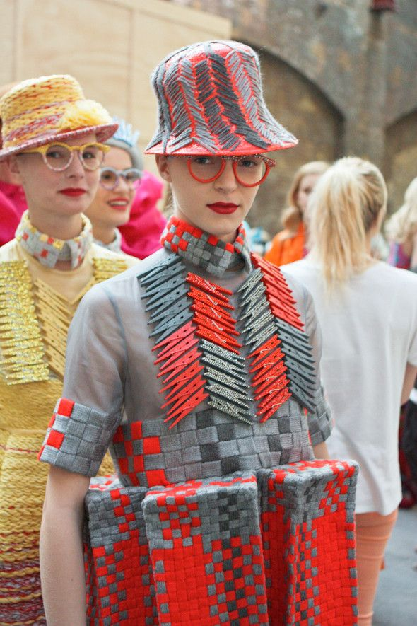 Central Saint Martins block three dimensional fashion manipulation