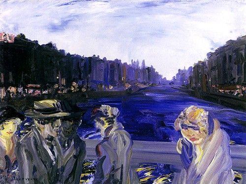 blastedheath: Jack Butler Yeats (Irish, 1871-1957), Pedestrians Crossing the River Liffey.