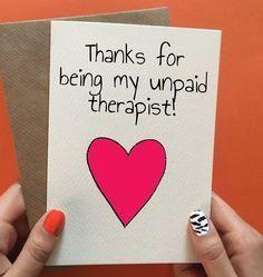 Lustig danke oder Geburtstagskarte für besten Freund. Keine Gelegenheit? Pin it to …