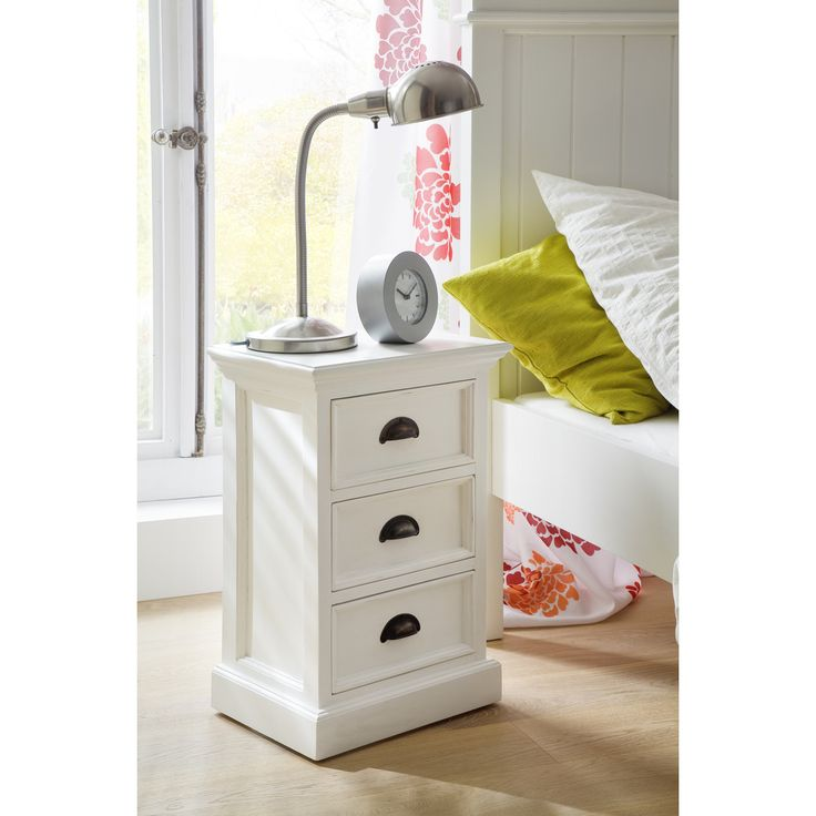 NovaSolo 3-drawer White Mahogony Bedside Table - Overstock™ Shopping - Great Deals on Nova Solo Nightstands