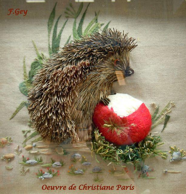 Art Textile Créations: Deux Coup de Coeur - I'm in love with this hedgehog!!