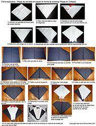 17 best images about pliage serviettes on pinterest diy. Black Bedroom Furniture Sets. Home Design Ideas