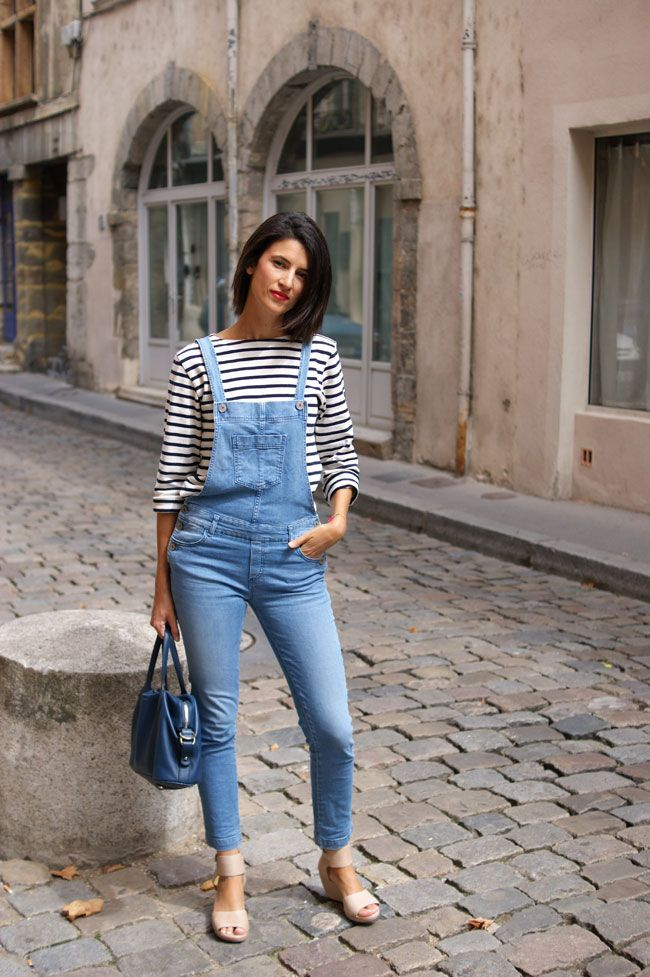 d3f1043e 6 ways to combine jeans with striped tops | Outfit inspiration | Jeans,  Denim overalls, Overalls