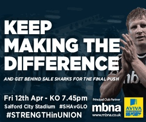 Sale Sharks v Gloucester We are very close to the stadium,call now for your accommadation 07976208761