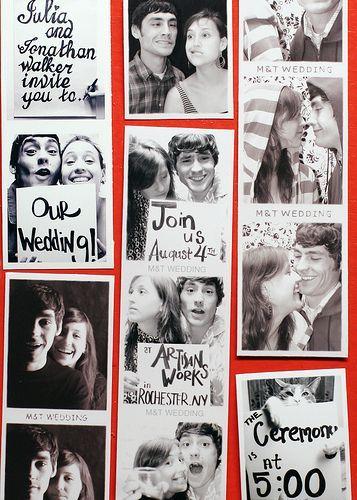 photo booth wedding invite