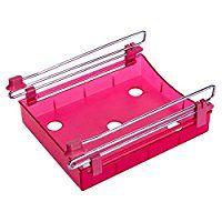 Yiuswoy Multifunktion Kunststoff Sparen Sie Platz Kuechen Schublade Organzier Kuehlschrank Regal Gefrierschrank Zubehoer Tablett Abstandsschicht - Rot