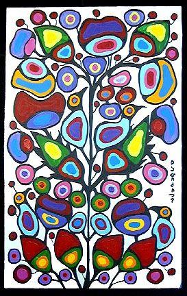 Tree Of Life by Norval Morrisseau. Naïve Art (Primitivism). symbolic painting