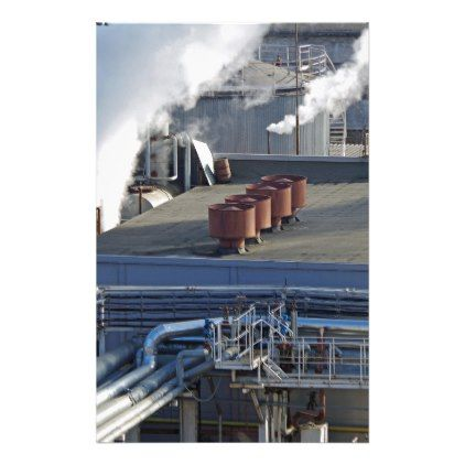 Industrial infrastructure buildings and pipeline stationery - construction business diy customize personalize