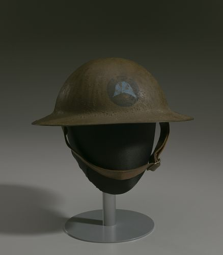 Image for Combat helmet from World War I used by the 93rd Infantry Division