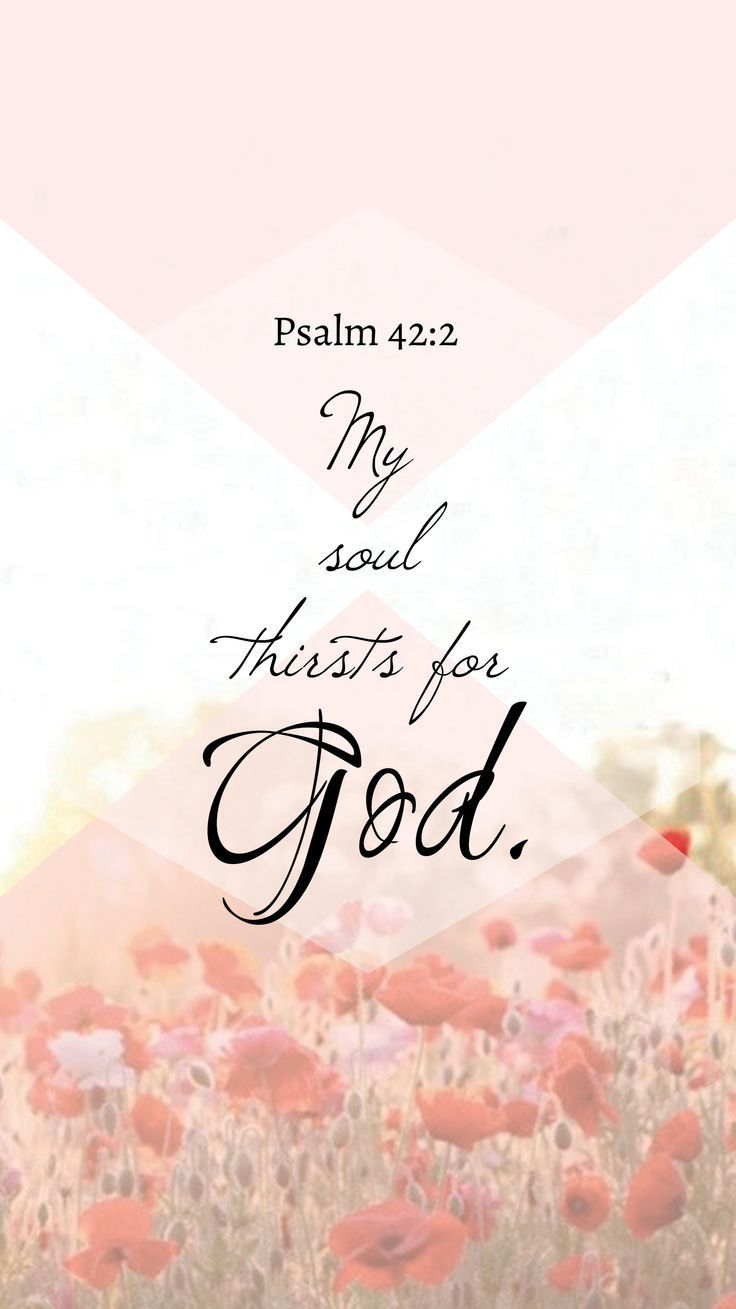 Early in the morning I seek You. My soul thirsts for You. My flesh longs for You in a dry and thirsty land where there is no water.
