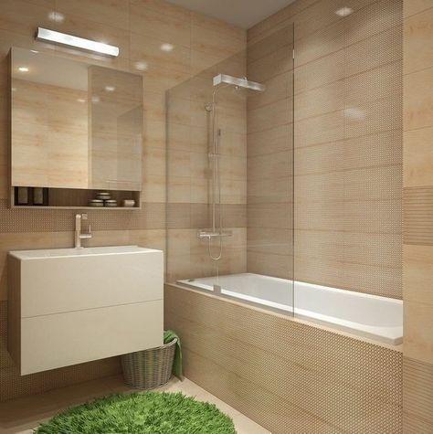 Вот решение с ванной и душем в ней, которое мне показалось интересным. Только может перегородку сделать не стеклянной.