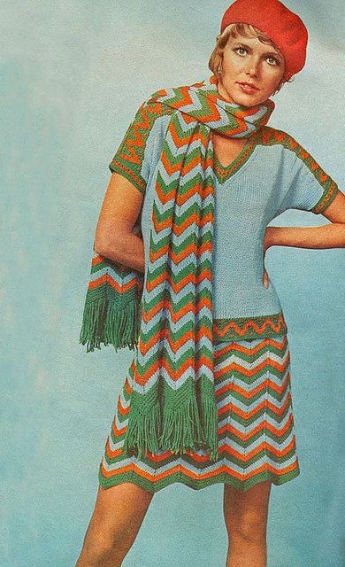 1970's Crochet Fashion