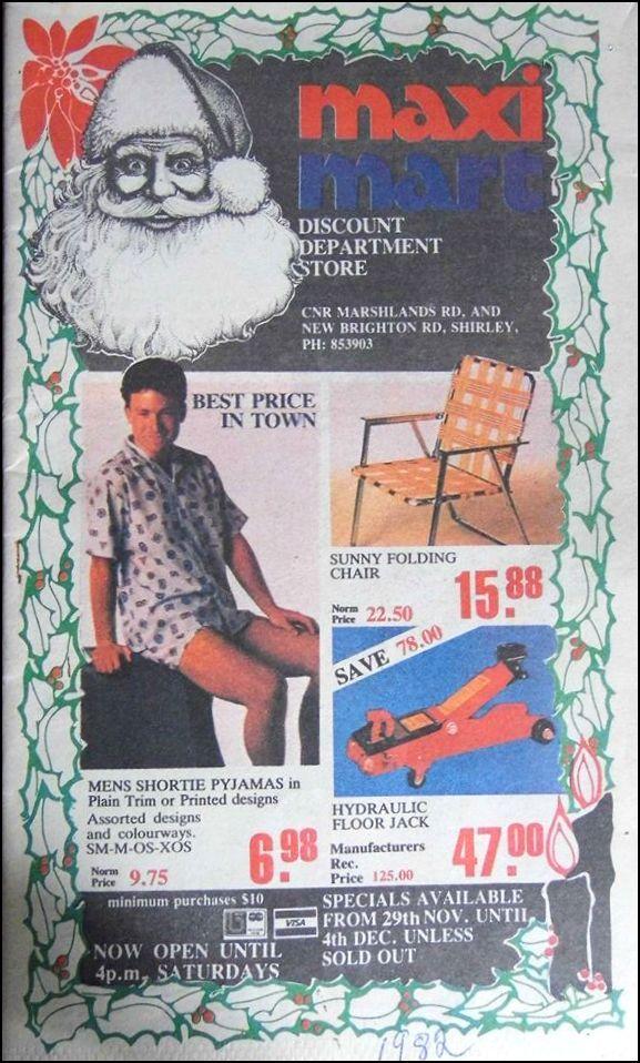 Maxi Mart 1982 Advert, Christchurch, New Zealand.