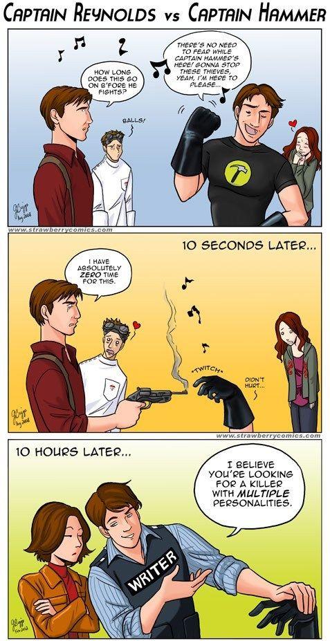 Firefly vs. Dr. Horrible vs. Castle - oh how I love Nathan Fillion