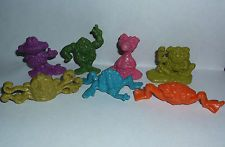 vintage 1970s FREAKIES Cereal Toy Premiums - Complete Set of 7 !!!