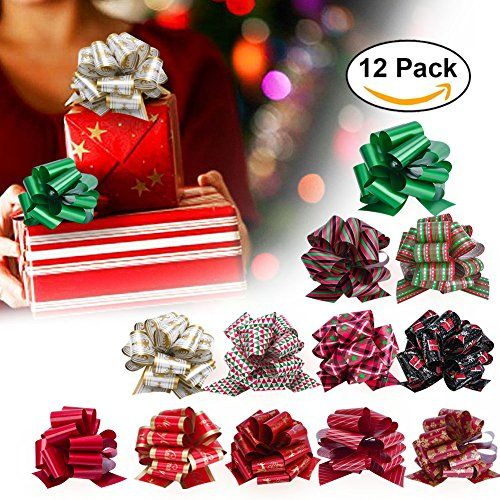 From 5.99 Christmas Gift Ribbon Pull Bows Vanow Gift Pull Bow With Ribbon Pull Strings For Gift Wrapping Decoration Wedding Party Christmas Decoration Arts And Crafts - Pack Of 12