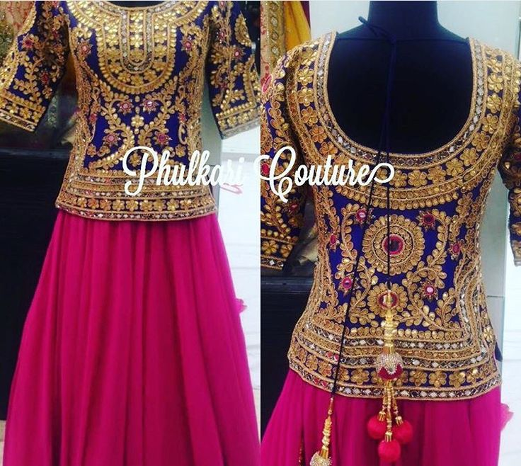 Gorgeous embroidery and color combination in this piece by Phulkari Couture.