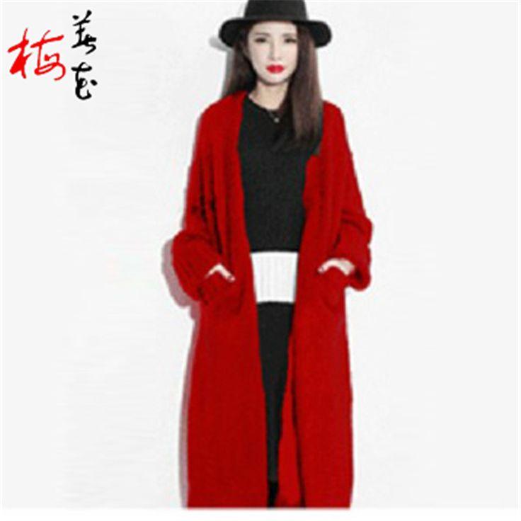 Черный кардиган Большой размер дамы длинные черные кардиган зима кардиган женщины с длинным рукавом твердые Большой размер черный кардиган