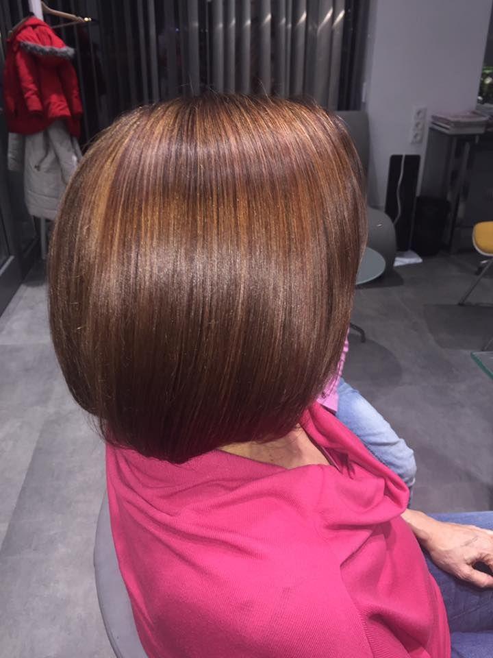 Wykonanie: Monika. www.fryzjer.lublin.pl #brown #hair #hairstyle #haircut #dyed #woman #fryzjer #fryzury #damskie #włosy #Lublin