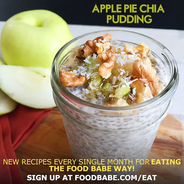 Apple Pie Chia Pudding - Make-Ahead Breakfast Idea! - Nutritious, delicious and ready to go for busy mornings.