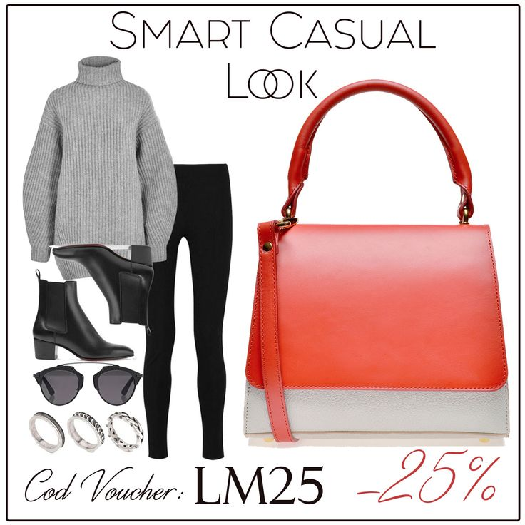 The red Brigitte leather bag is the ideal accessory for a smart casual look @comenziwildinga