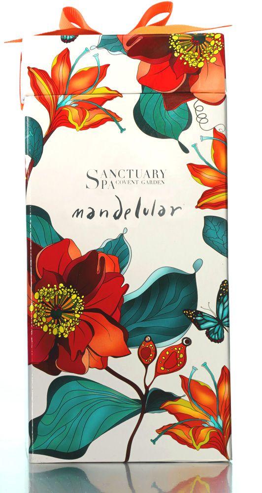 Packaging illustration for gift sets for Sanctuary Spa (UK) by Ella Tjader