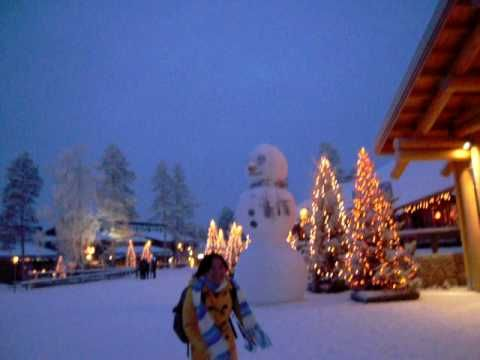 santa clause village cross the arctic circle in finnish lapland.AVI - YouTube