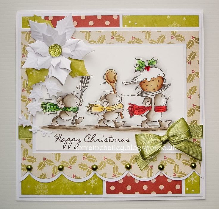 Good Morning Everyone, I have another Christmas card to share using one of the gorgeous new stamps from Lili of the Valley .This is...Ch...