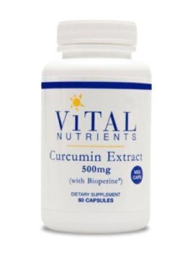 Vital-Nutrients-Curcumin-Extract-500-mg-60-Veg-Capsules-VNCUR-Exp-8-17-SD