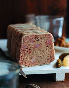 Country Terrine - A simple recipe that yields delicious results.        Country Terrine Recipe  at Epicurious.com