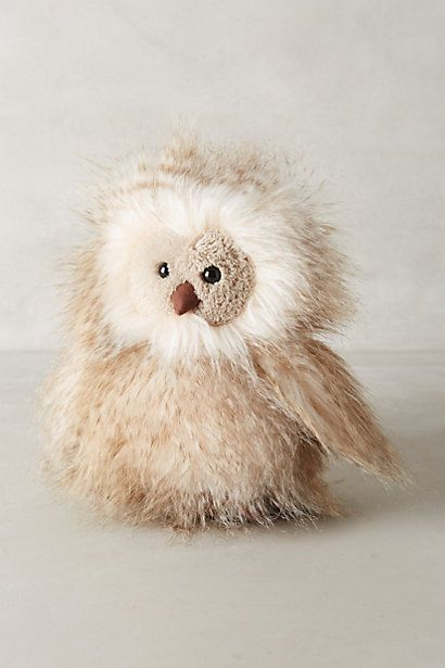 Orlando Owl Stuffed Animal #anthropologie  (****There's a dark version of 'Orlando' below near the beginning of this Board.)