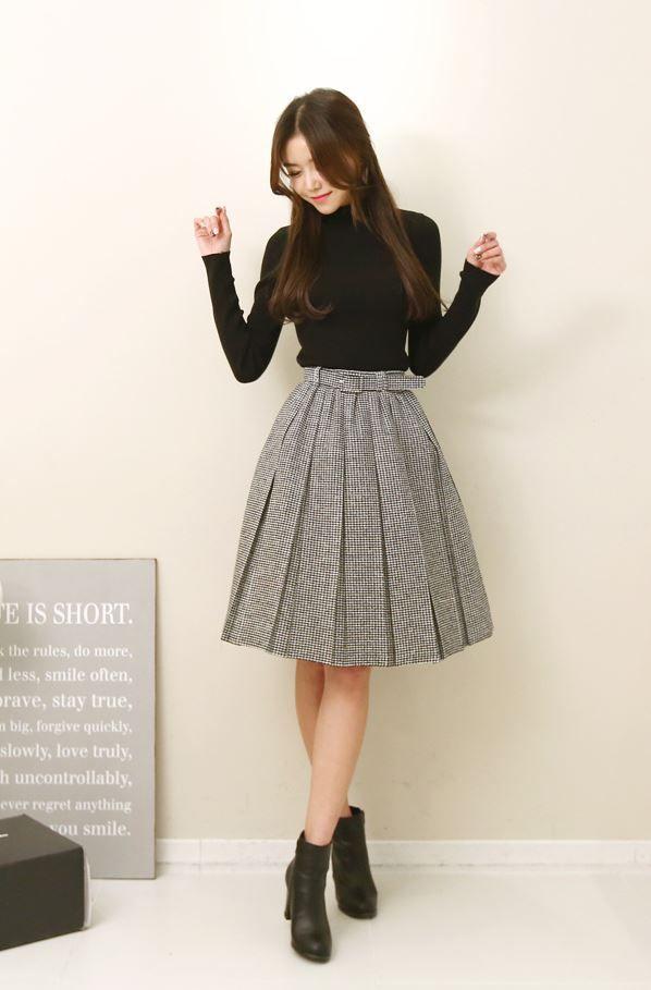 outstanding korean pleated skirt outfits skirt