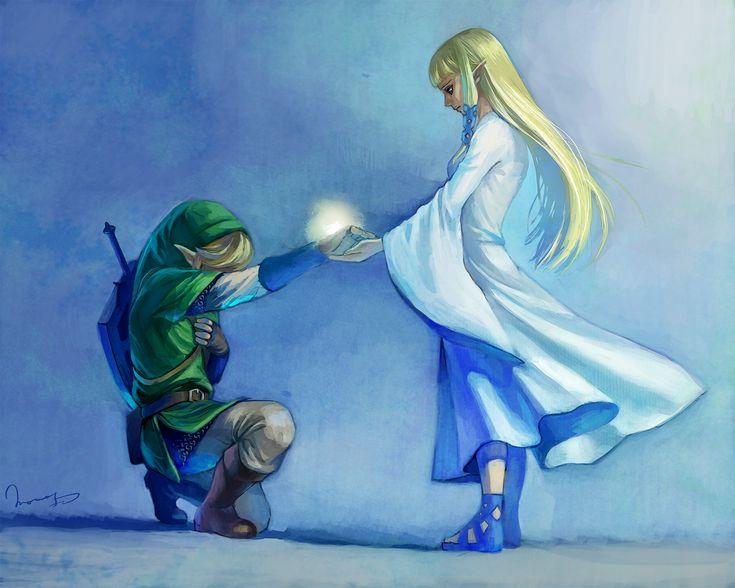 The Legend of Zelda: Skyward Sword, Link and Zelda / 「勇者☆爆誕」/「ももよし」のイラスト [pixiv]