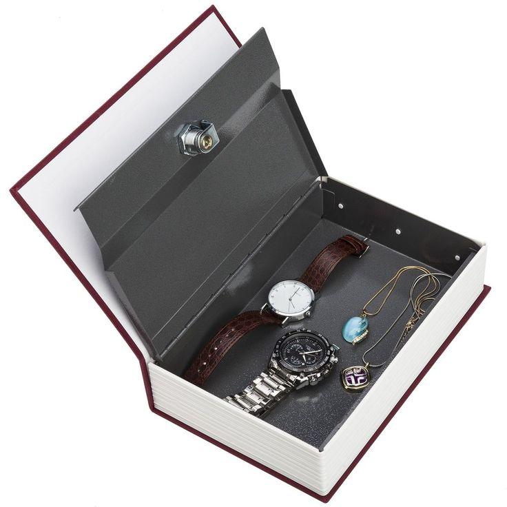 Book Safe Box Key Lock Vault Water Fire Proof Home Sentry Money Gun Protection #Sentry