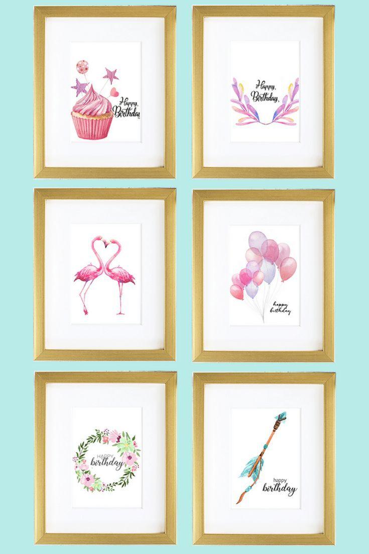 Best 25 Watercolor birthday cards ideas – Best Friend Birthday Cards Printable