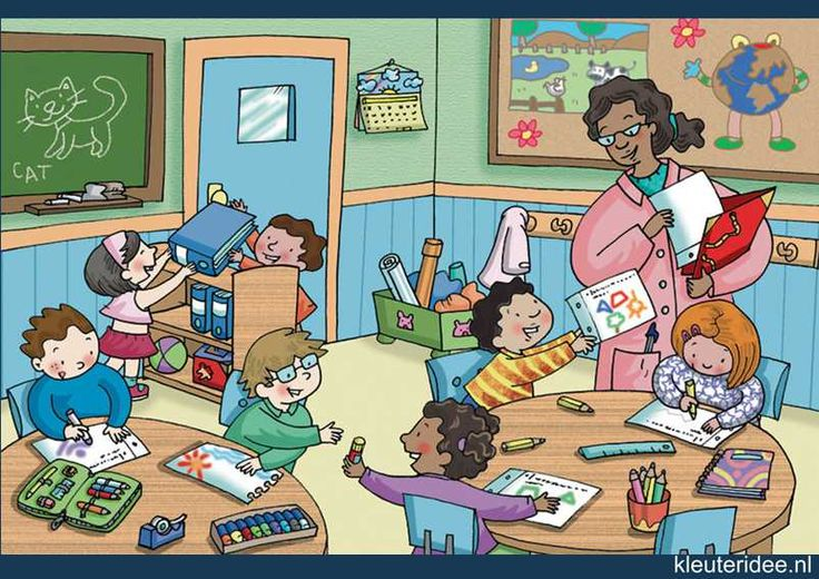 Praatplaat klaslokaal