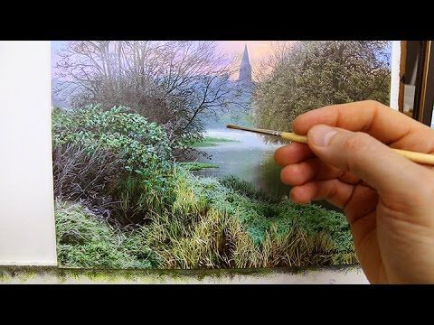 HOW TO PAINT FAST FLOWING WATER - YouTube