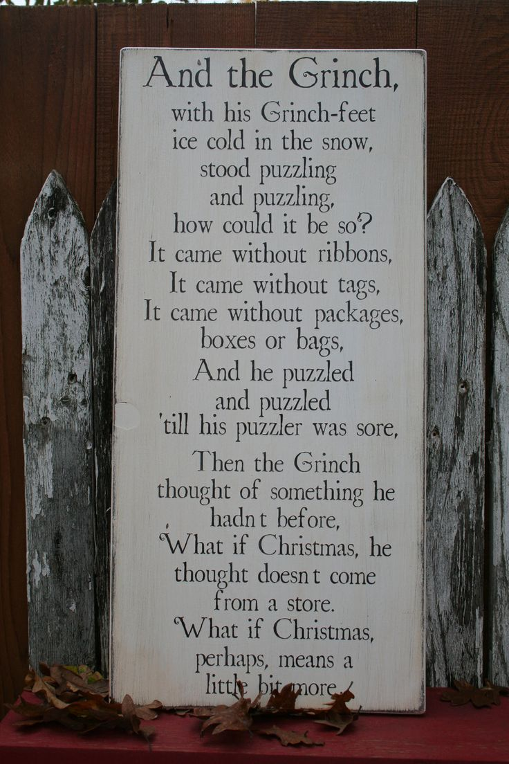 New Design- The Grinch- Famous Quote 12x24. $42.00, via Etsy.