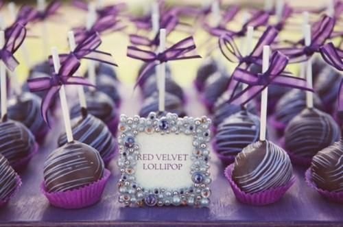 A delicious dessert with silver and Acai accents.