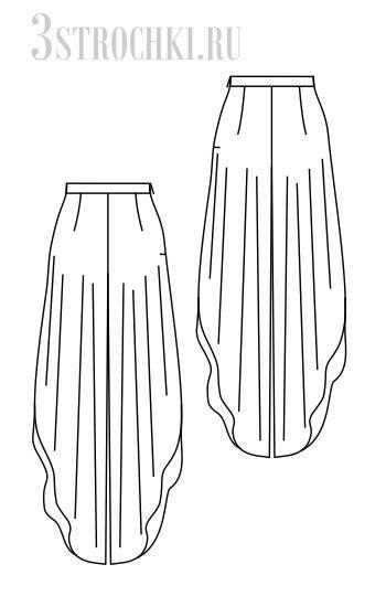 Шифоновые брюки фото выкройки