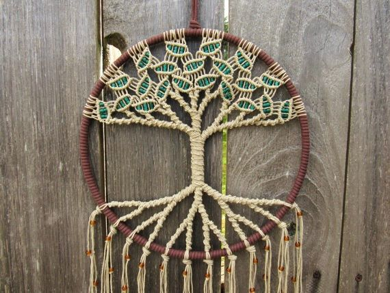 Macramé Wall Hanging Tree of Life by Evergreenbohemian on Etsy