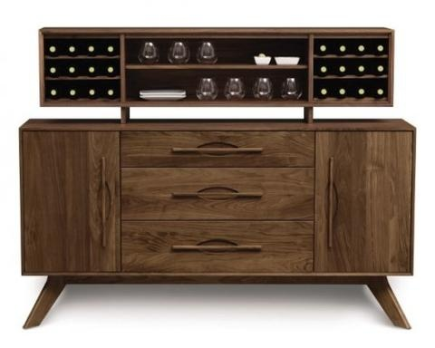Audrey 3 Center Drawers/2 Doors Buffet with Hutch - Eco-friendly Modern Dining Furniture - The Century House in Madison, WI