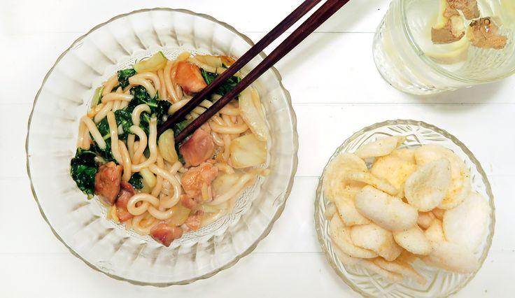 Lekker en makkelijk recept voor noedels met kip, paksoi en gember #gewoonwateenstudentjesavondseet